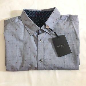 Ted Baker Men's Scatter Ls Geo Fil Coupe Shirt